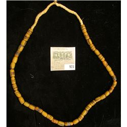 Strand of Sand cast African Trade Beads. Used to trade with Native American Indians.