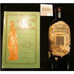 """Amber Bottle with stopper (contents will be emptied if shipped) """"Warner's Compound A Diuretic Concen"""