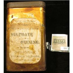 Original Tin with contents of Jeffersonia Diphylla Twin Leaf medicine. Plants of Jeffersonia diphyll