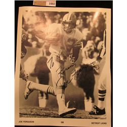 1002 _ Autographed Photo of Joe Ferguson Quarterback of the Detroit Lions.