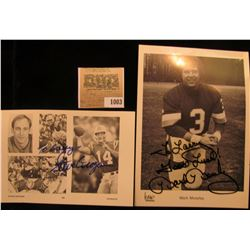 1003 _ (2) Autographed Photo's of Steve Grogan Quarterback of the New England Patriots and Mark Mose