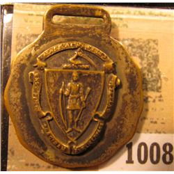 1008 _ Massachusetts Seal Watch Fob.