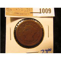 1009 _ 1849 Large Cent
