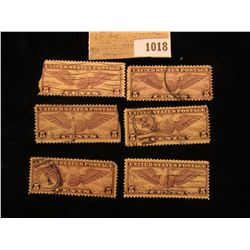 1018 _ Pack of Six Scott C12 Stamps.