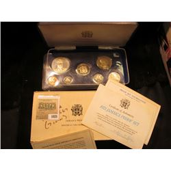 1025 _ 1971 Jamaica Proof Set in original case, which is a little rough, but the coins are excellent
