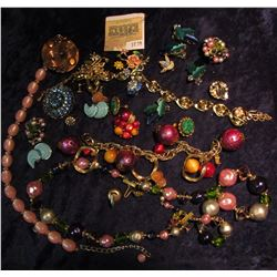 1030 _ Large Group of Costume Jewelry from the 1950 era.