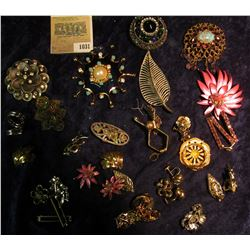 1031 _ Large Group of Costume Jewelry from the 1950 era.