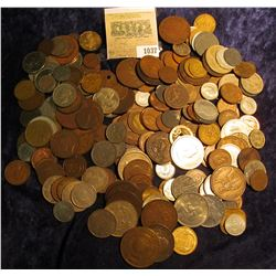 1037 _ Zip-lock Bag of Foreign Coins, includes a nice selection of Early Coinage.