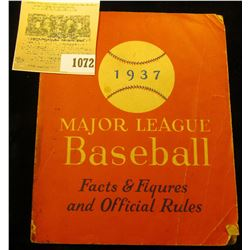 "1072 _ ""1937 Major League Baseball Facts & Figures and Official Rules"", Paperback book, 242 pgs."