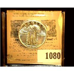 1080 _ 1918 D Standing Liberty Quarter, UNC