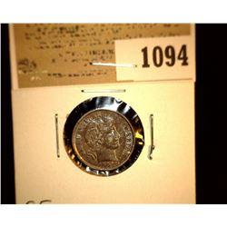 1094 _ 1901 P Barber Dime, EF.