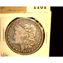 1101 _ 1893 O Morgan Silver Dollar, VG.