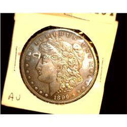 1104 _ 1896 P Morgan Silver Dollar, AU