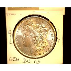 1113 _ 1900 O Morgan Silver Dollar, GEM BU 65.