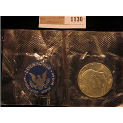 1130 _ 1971 S Eisenhower Silver Dollar in original U. S. Mint cellophane, Gem BU.