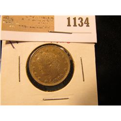 "1134 _ 1900 High grade Liberty ""V"" Nickel."