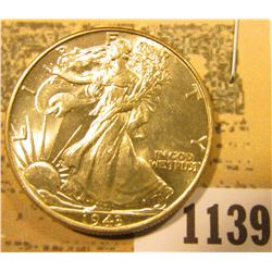 1139 _ 1943 P Gem BU Walking Liberty Half Dollar.