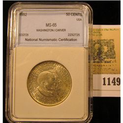 1149 _ 1952 Washington/Carver Commemorative Half Dollar, NNC slabbed