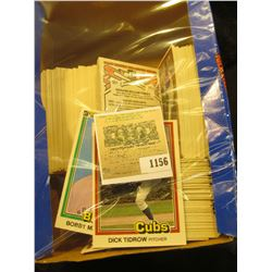 1156 _ Box half full of 1981 Donruss Baseball Cards, Mint condition or nearly so. Includes Dick Tidr