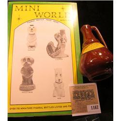 "1167 _ ""Mini World Figural Bottle Price Guide"", by David M. Spaid; & a Stoneware miniature jug ""Poli"