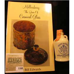 "1168 _ ""Millersburg The Queen of Carnival Glass"" by Bill Edwards; & a miniatue Milk Glass Jug ""Henry"