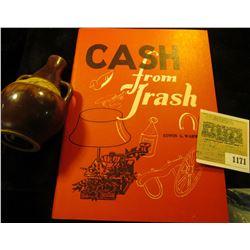 "1171 _ ""Cash from Trash"" by Edwin G. Warman; & a Stoneware miniature jug ""Polish Honey Drink,, Nadwi"