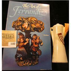 "1182 _ A Miniature Coffee Pitcher Liqueur Bottle from West Germany; & ""The Art of Ferrandiz an Ident"