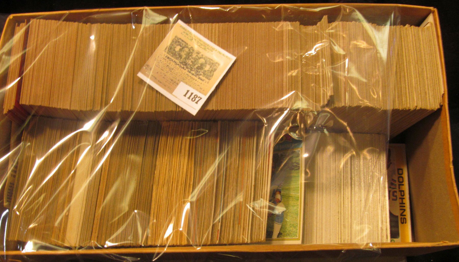 1187 Shoe Box Of 1970 Topps Era Baseball Cards Which I Did Not Have Time To Sort