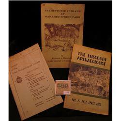 "1197 _ ""Prehistoric Indians at Maramec Spring Park"", by Richard A. Marshall, University of Missouri;"