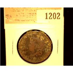 1202 _ 1817 U.S. Large Cent, VG.