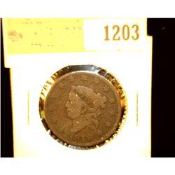 1203 _ 1818 U.S. Large Cent, VG.