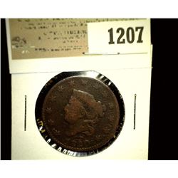 1207 _ 1820 U.S. Large Cent, VG.
