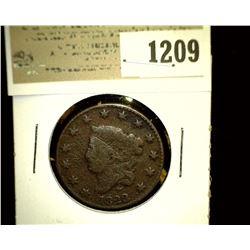 1209 _ 1823 U.S. Large Cent, VG.