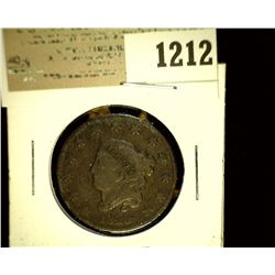 1212 _ 1828 U.S. Large Cent, VG.
