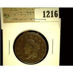 1216 _ 1831 U.S. Large Cent, VG.