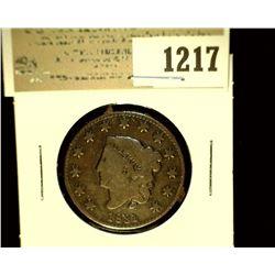 1217 _ 1831 U.S. Large Cent, VG.