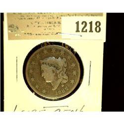 1218 _ 1832 U.S. Large Cent, Large letters, VG.
