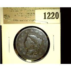 1220 _ 1833 U.S. Large Cent, VG.