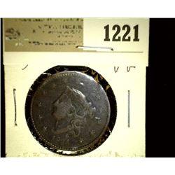 1221 _ 1834 U.S. Large Cent, VG, slight bend.