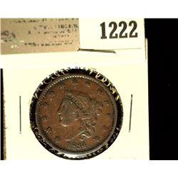 1222 _ 1834 U.S. Large Cent, VG.