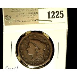 1225 _ 1837 U.S. Large Cent, Good, Small scratch.
