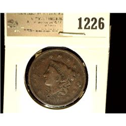 1226 _ 1837 U.S. Large Cent, Very Good,