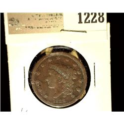 1228 _ 1838 U.S. Large Cent, Very Good,