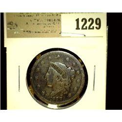 1229 _ 1838 U.S. Large Cent, Fine.