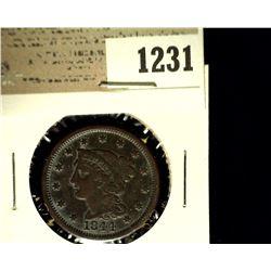 1231 _ 1844 U.S. Large Cent, Fine.