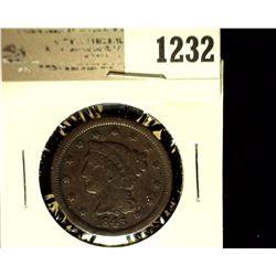 1232 _ 1845 U.S. Large Cent, Fine.
