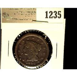1235 _ 1846 U.S. Large Cent, Fine.