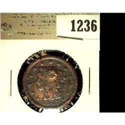 1236 _ 1847 U.S. Large Cent, Damaged.