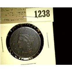 1238 _ 1847 U.S. Large Cent, Fine