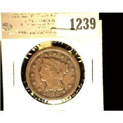 1239 _ 1848 U.S. Large Cent, Fine